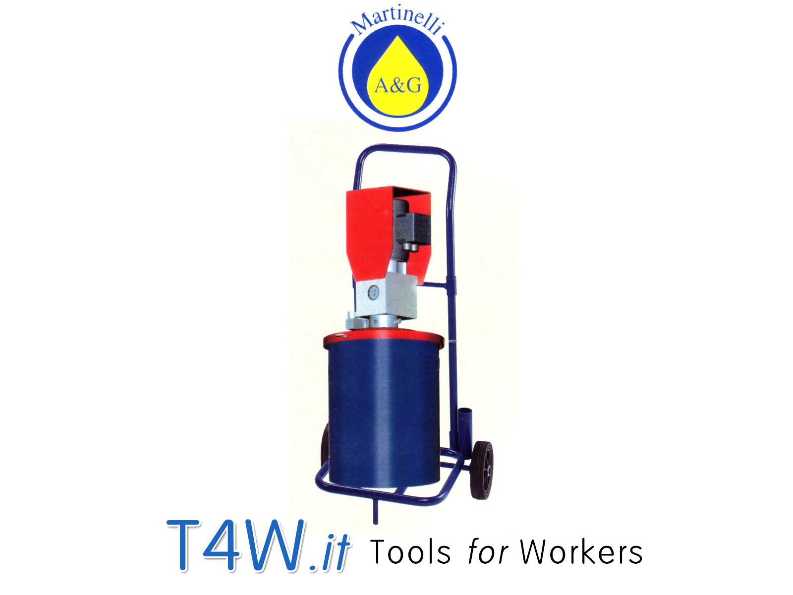 Pompa per grasso elettrica ABNOX con carrello Art. 2570C Martinelli -