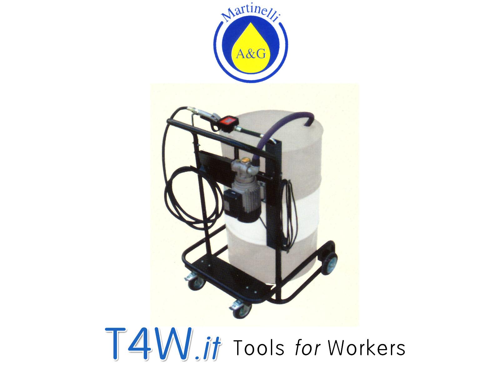 Unità elettrica mobile per olio 220 V Art. 2704 Martinelli -