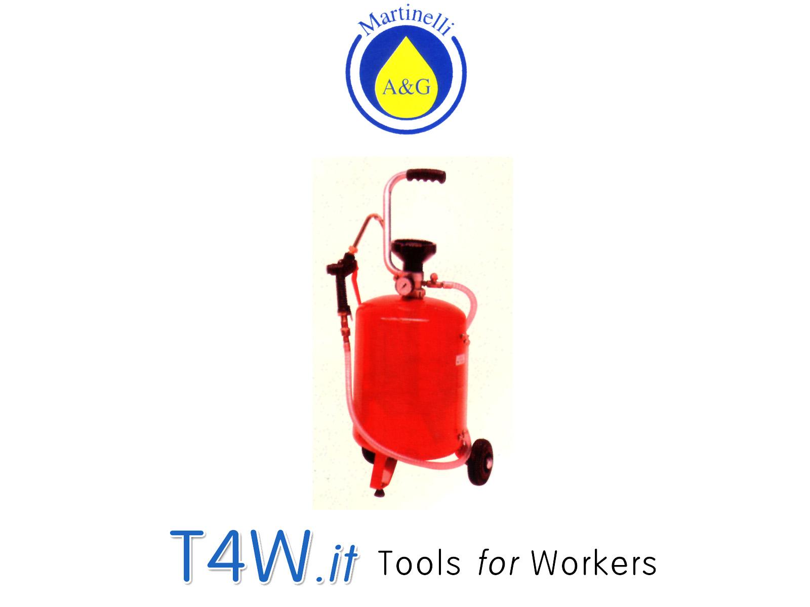Distributore pneumatico per olio con serbatoio 24 lt. Art. 2825 Martinelli -