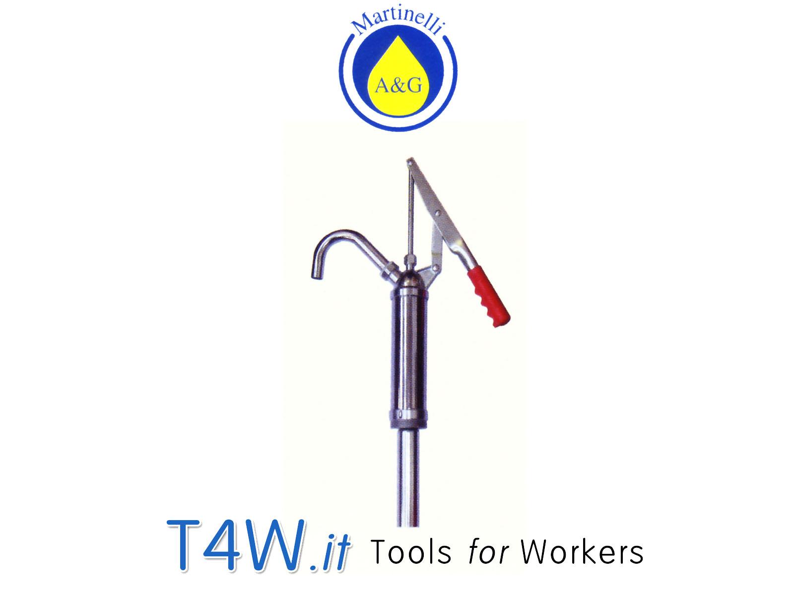 Pompa travaso olio - gasolio lt. 40 Art. 3410 Martinelli -