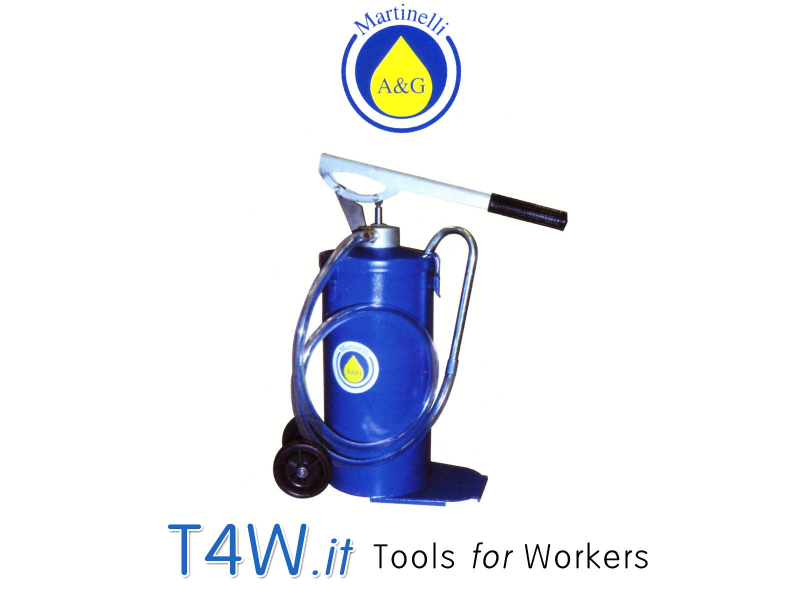 Pompa a barile per olio con ruote kg. 16 Art. 417 Martinelli -
