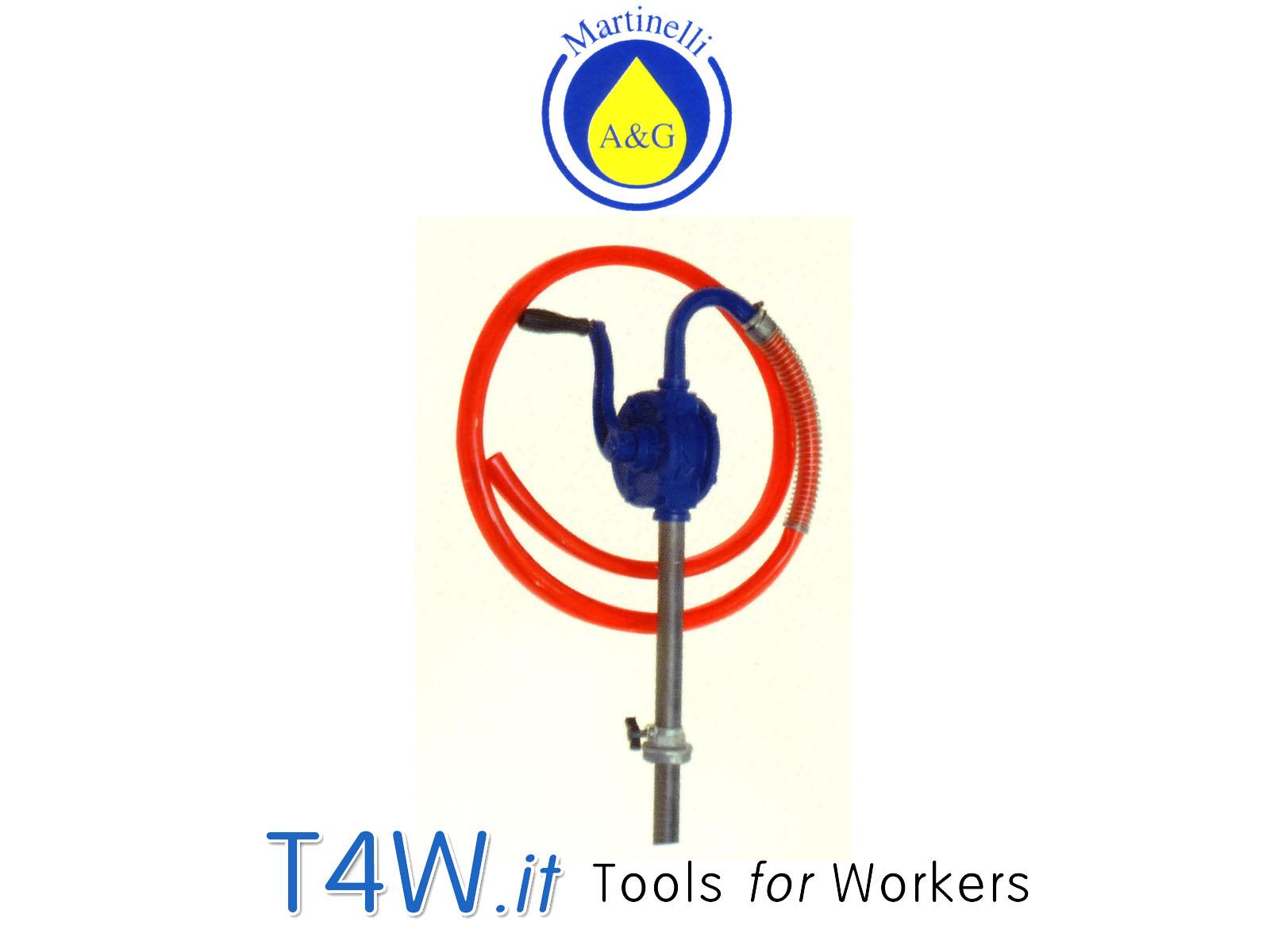 Pompa travaso olio - gasolio rotativa Art. 689 Martinelli -