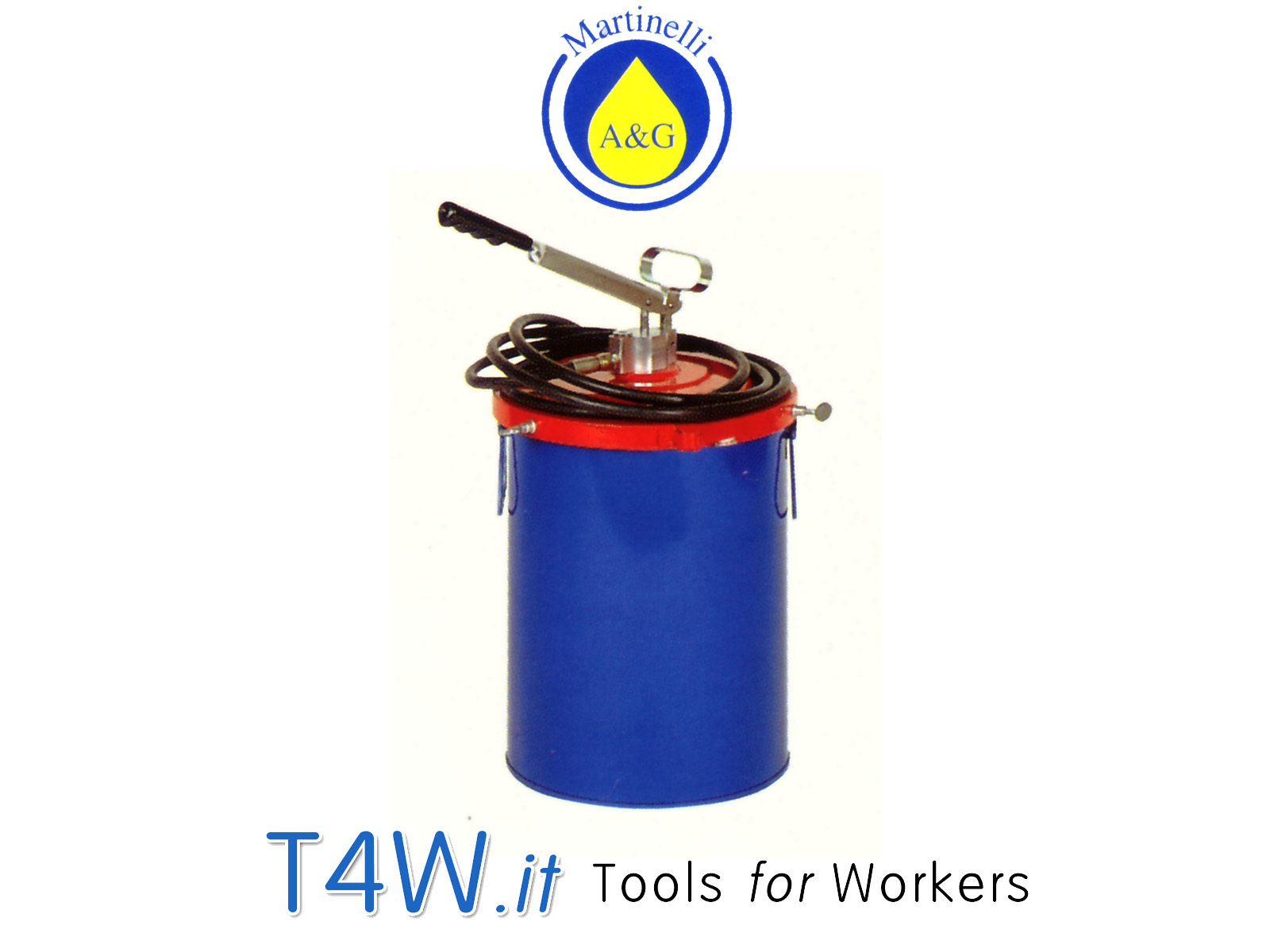 Kit pompa ingrassaggio per fusti ad alta pressione Art. 977 Martinelli -